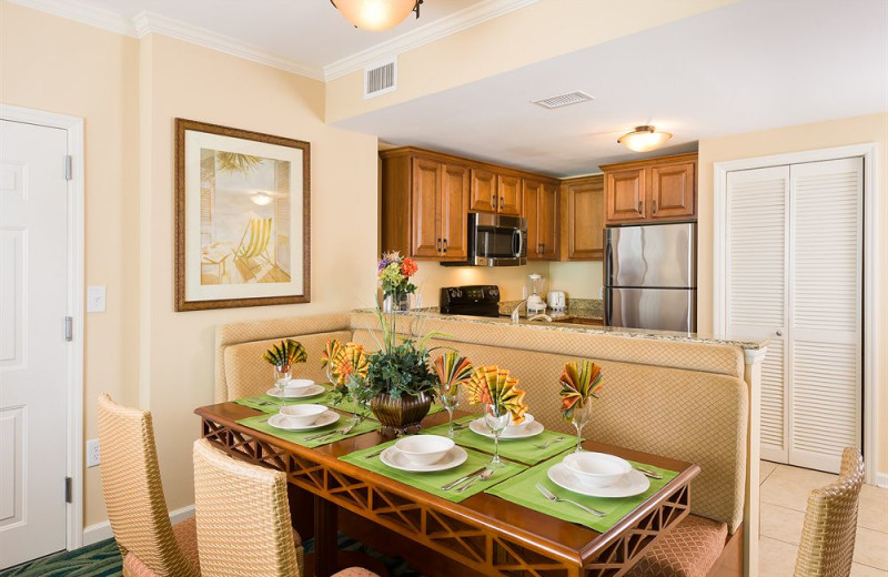 Guest dining and kitchen at Westgate Myrtle Beach.
