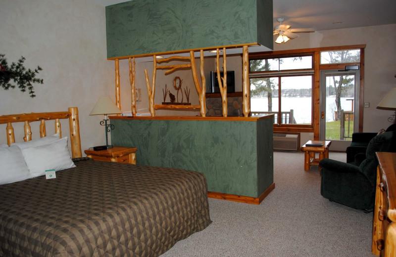 Guest room at Manhattan Beach Lodge.