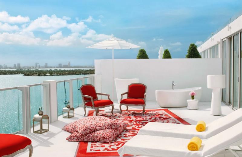 Balcony view at Mondrian Miami.