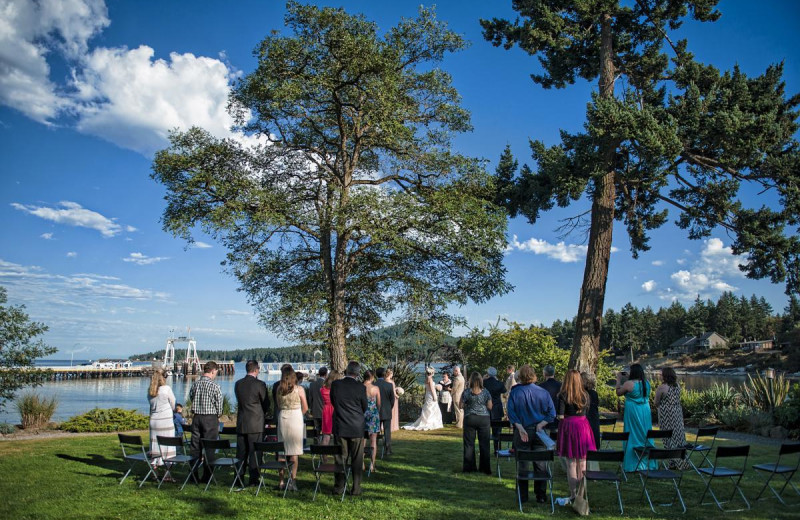 Wedding ceremony at Galiano Oceanfront Inn and Spa.