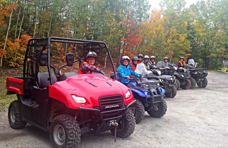 ATV at Dunlop Lake Lodge.