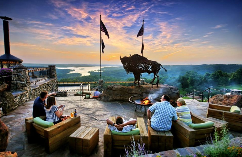 Patio at Big Cedar Lodge.