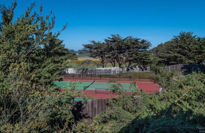 Tennis court at Pajaro Dunes Resort.