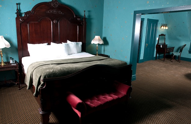 King Bed and Parlor at the 1886 Crescent Hotel & Spa.