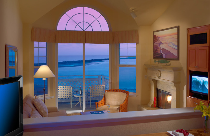 Ocean view room at Beach House Half Moon Bay.