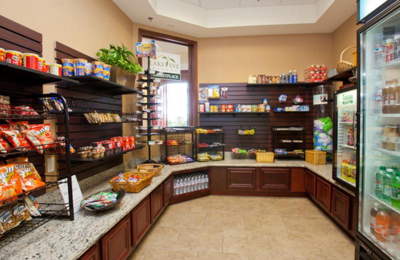 Snack shop at Lake Eve Resort.