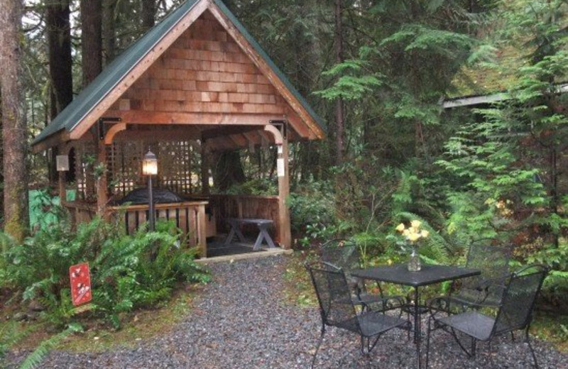 Vacation rental hot tub at Mt. Baker Lodging.