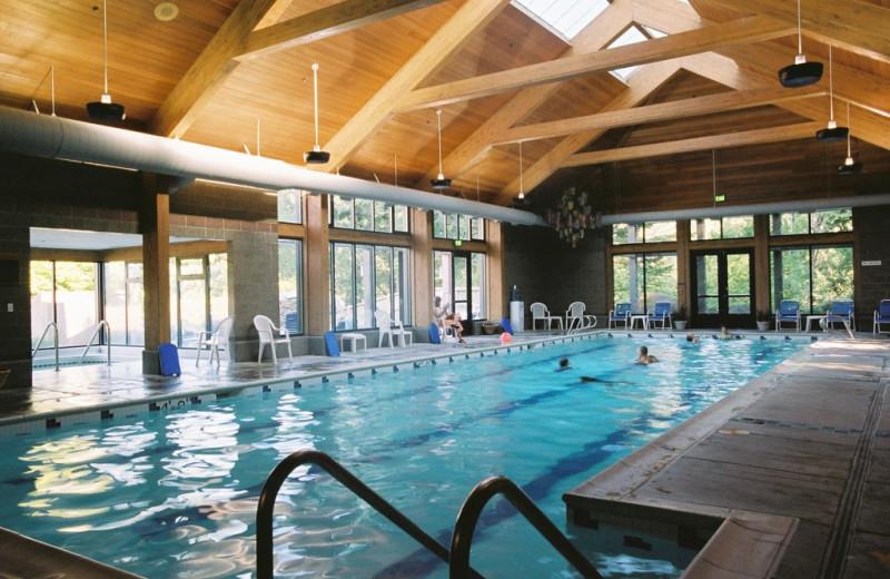 Indoor pool at Skamania Lodge.