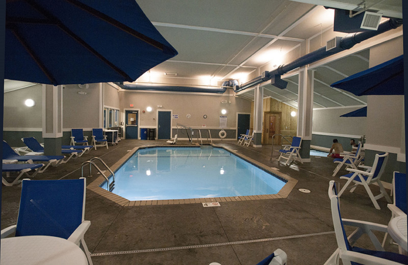 Indoor pool at Park Point Marina Inn.