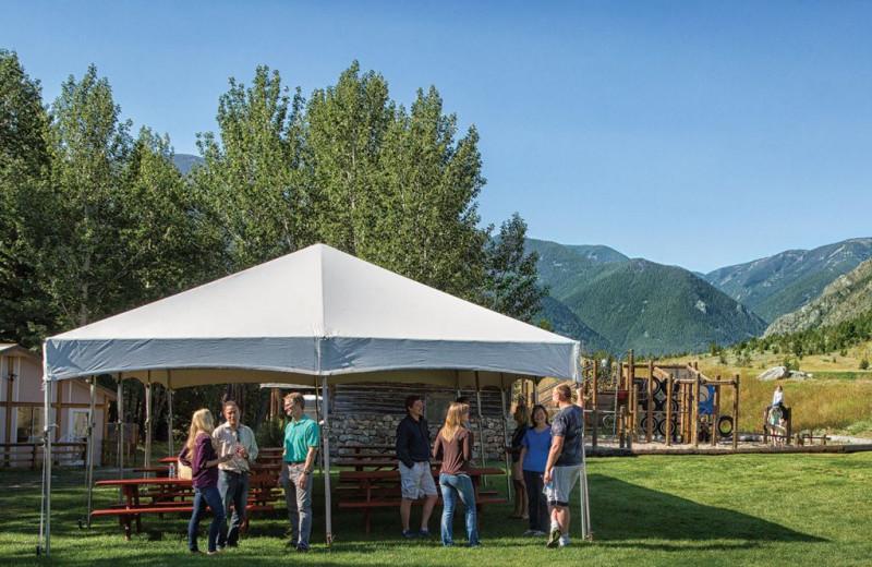 Tent at Rock Creek Resort.