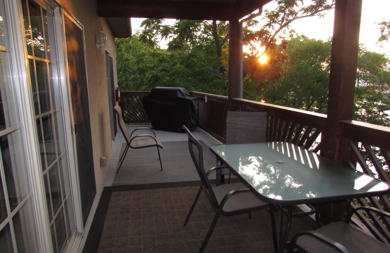 Guest balcony at Vickery Resort On Table Rock Lake.