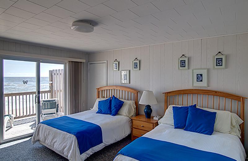 Guest room at Wavecrest Resort.