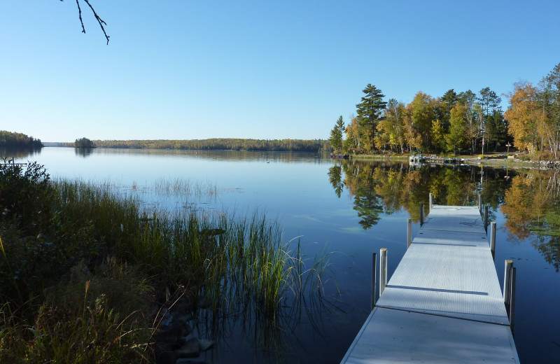 The fishing dock at River Point Resort & Outfitting Co.