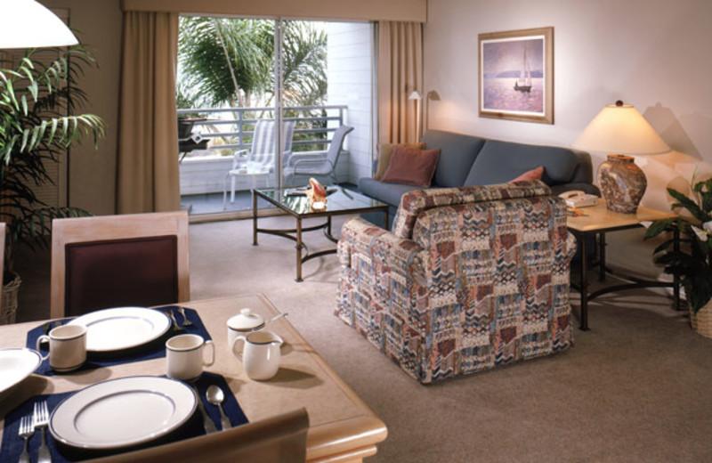 Interior view of Riviera Shores Resort.