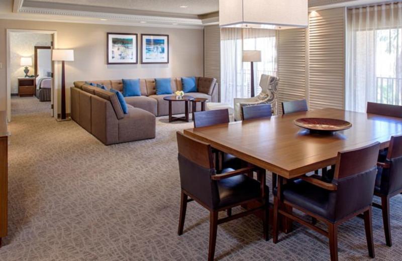 Guest room at Sheraton San Marcos Golf Resort.