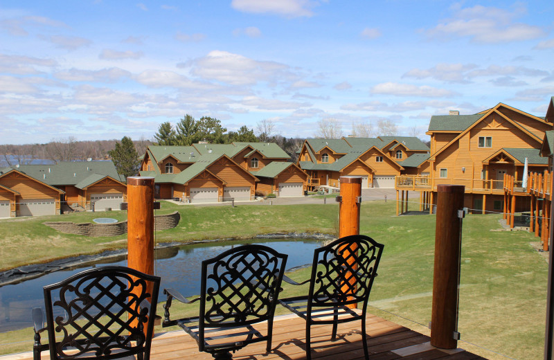 Guest patio at Big Sandy Lodge & Resort.