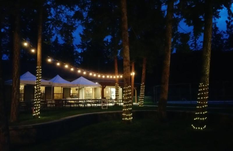 Wedding reception at Powers Creek Retreat.