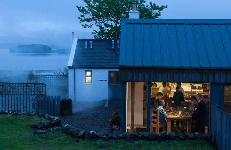 Dining at Three Chimneys.