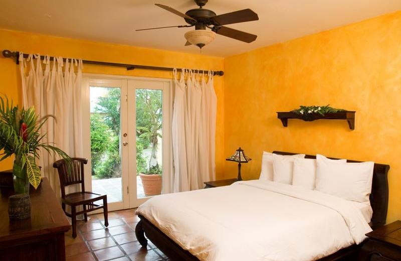 Guest room at Villa Montana Beach Resort.