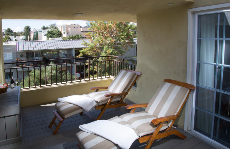 Balcony view at Le Montrose Suite Hotel.