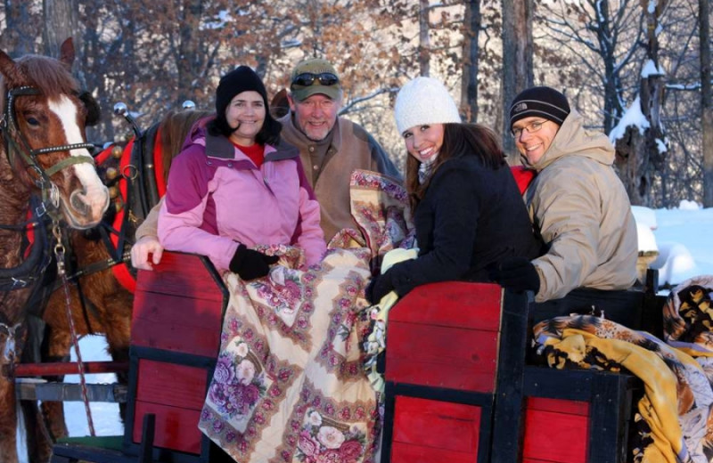 Sleigh ride at Cedar Valley Resort.
