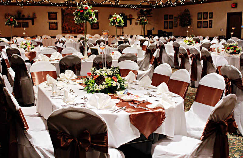 Wedding reception at Bavarian Inn of Frankenmuth.