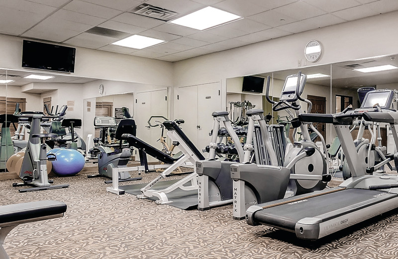 Fitness room at EagleRidge Lodge.