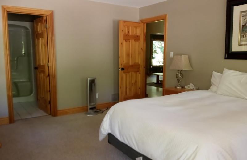 Cottage bedroom at Patterson Kaye Resort.