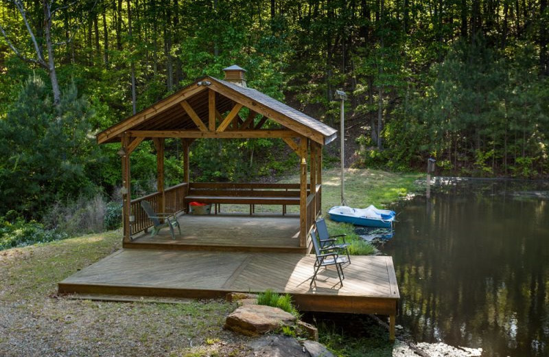 Private dock at Mountain Oasis Cabin Rentals.