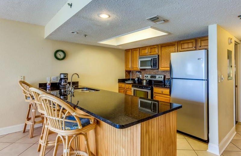 Rental kitchen at Holiday Villas III.