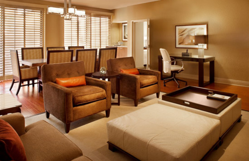Presidential Suite living room at The Westin Mission Hills Resort & Spa.