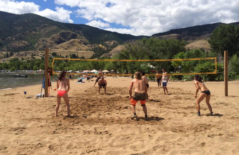 Beach volleyball at Barefoot Beach Resort.