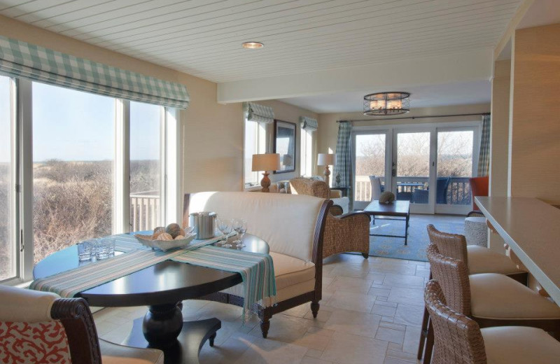 Guest living room at Ocean Edge Resort & Club on Cape Cod.