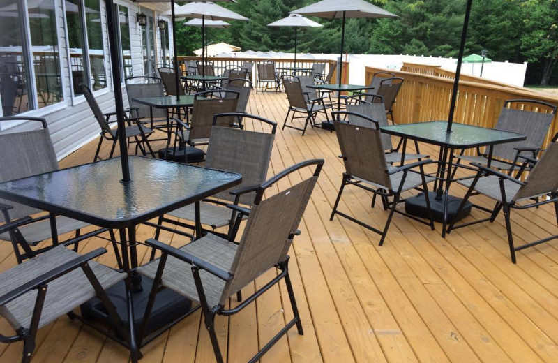 Patio at Catskill Mountains Resort.