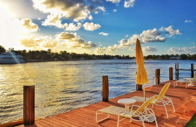 Rental dock at Walker Vacation Rentals.