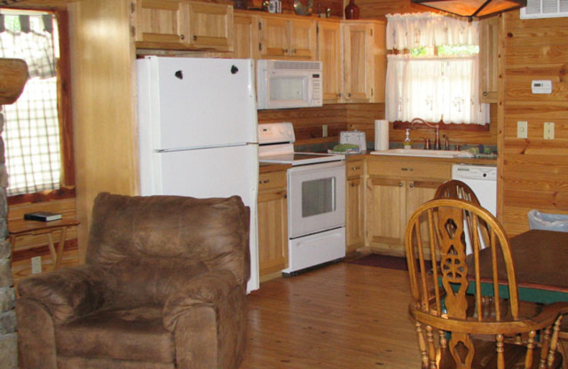 Interior view at Can-U-Canoe Riverview Cabins.