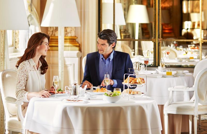 Dining at Hôtel Meurice.