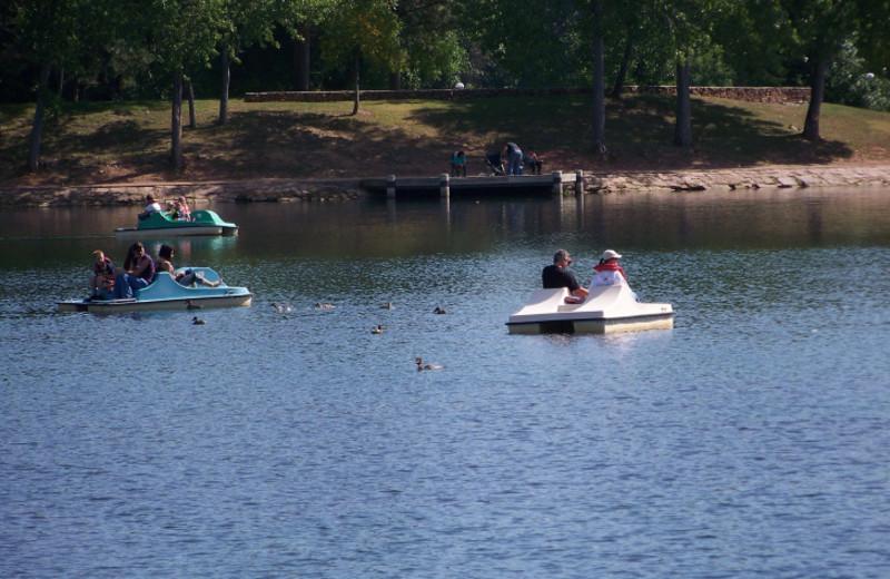 Paddle boats at Canyon Lake Resort.