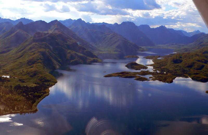 Aerial view of Alaska Rainbow Lodge.