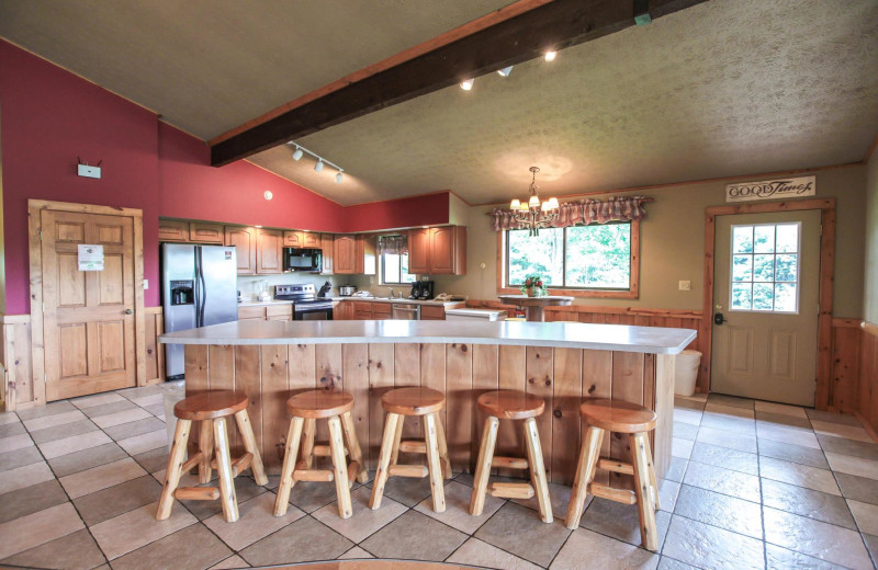 Chalet kitchen at Old Man's Cave Chalets.