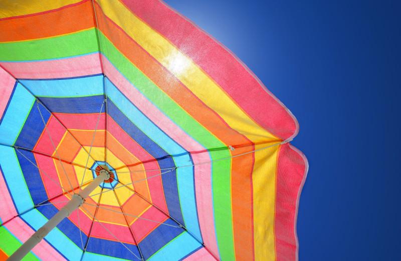 Sun umbrella at Shangri La Motel.