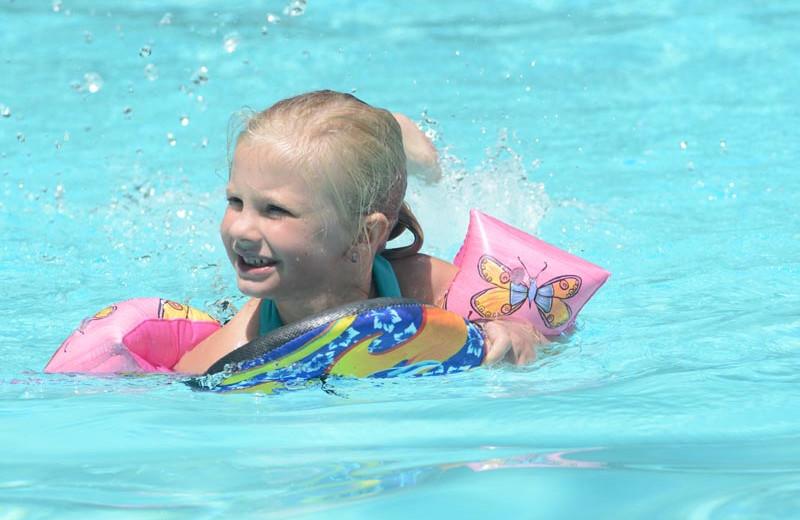 Swimming at Lake George RV Park.