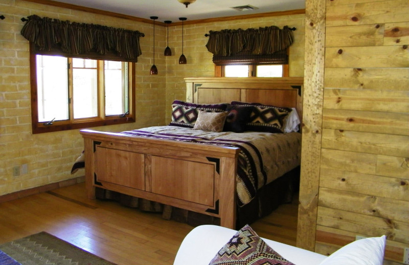 Guest room at Sunglow Guest Ranch.