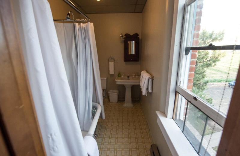 Guest bathroom at Balch Hotel.