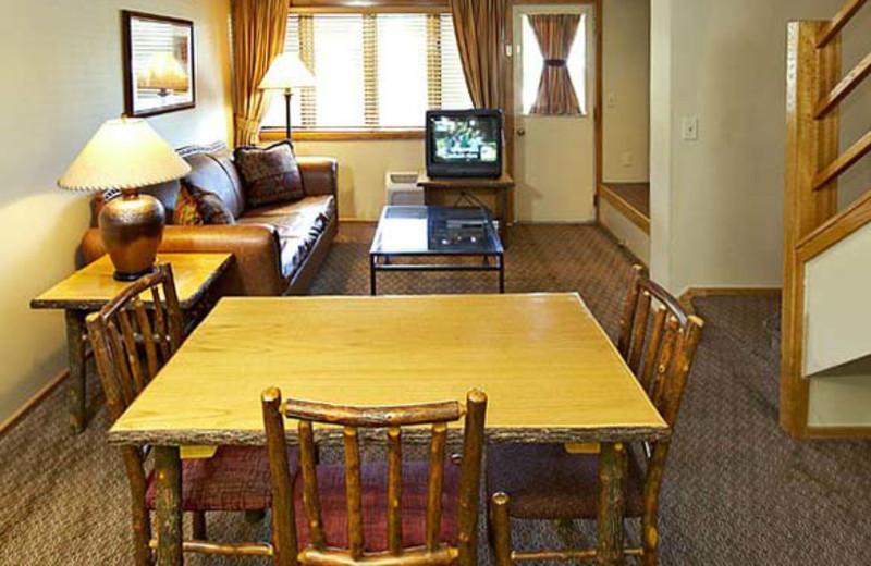 Guest suite at Jackson Hole Lodge.