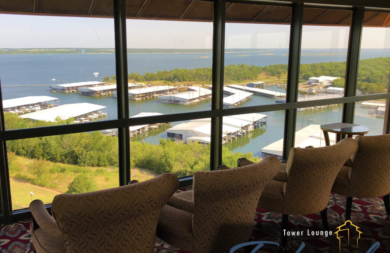 Club lounge at Tanglewood Resort and Conference Center.