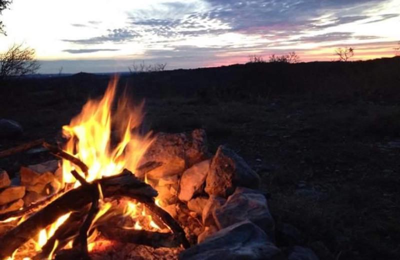 Bonfire at Twin Elm Ranch.