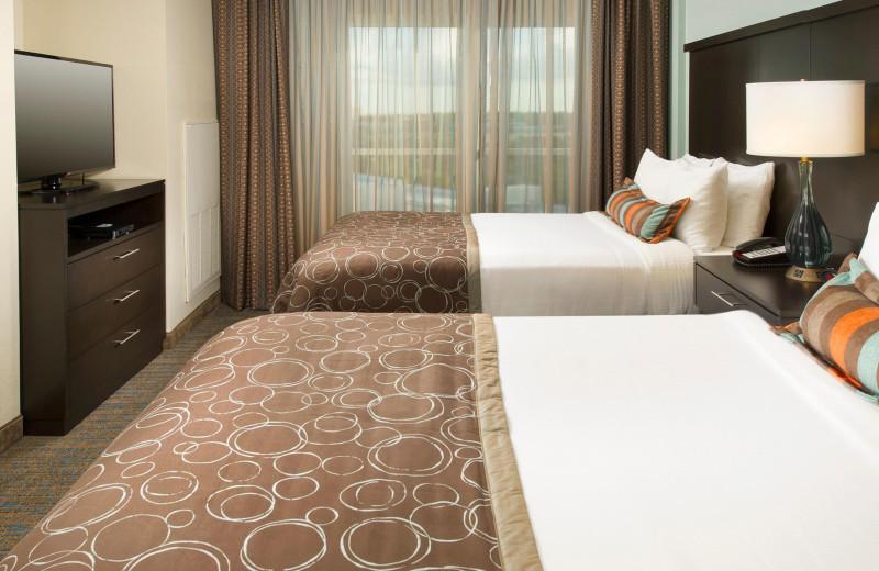 Guest room at Staybridge Suites San Diego Sorrento Mesa.