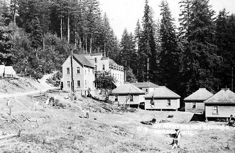 Historic photos at Carson Hot Springs Spa and Golf Resort.