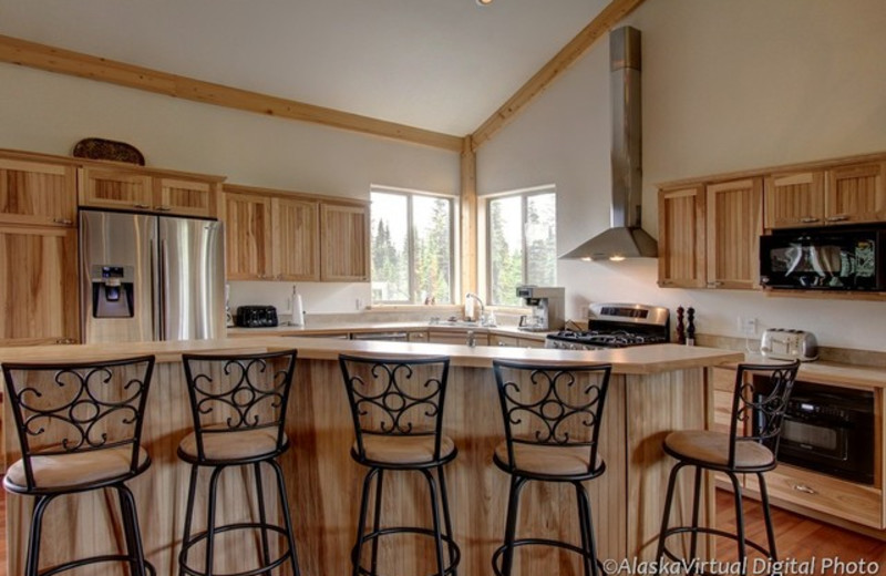Guest kitchen at Salmon Catcher Lodge.